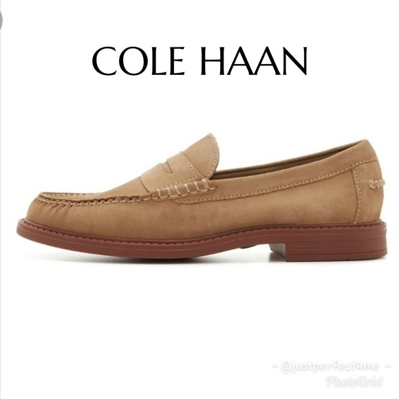 Cole Haan Other - COLE HAAN Tan Suede Pinch Campus Penny Loafer